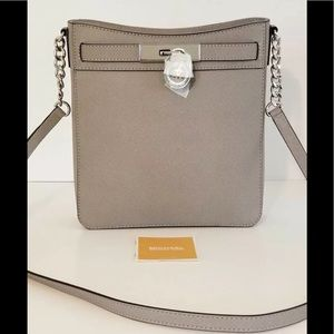 Michael Kors Hamilton Leather Messenger Crossbody